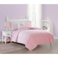 Jada Twin Comforter Set in Pink