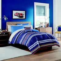Indigo Striped Twin Comforter Set in Blue