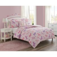 Cloud 9 Unicorn Starlight Reversible Comforter Set in Pink