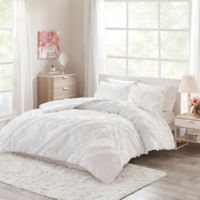 Intelligent Design Kacie Ruffled Twin/Twin XL Coverlet Set in White
