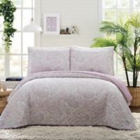 Jessica Simpson Paisley Cloud King Quilt Set in Lavender