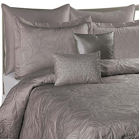 Nicole Miller® Lexington European Pillow Sham in Pewter