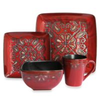 American Atelier Marquee 16-Piece Dinnerware Set in Red