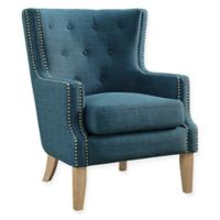 Linen Upholstered Darius Chair in Blue