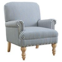 Linen Upholstered Brett Chair in Blue