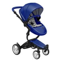 Mima® Xari Black Chassis Stroller in Royal Blue/Black and White