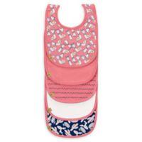 Lassig 5-Pack Glama Llama Waterproof Bib in Pink