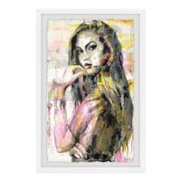 Parvez Taj Girl in Colors 16-Inch x 24-Inch Framed Wall Art