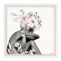 Parvez Taj Playful Bloom 12-Inch Squared Framed Wall Art