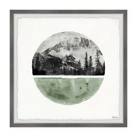 Parvez Taj Green Cold Mountain 32-Inch Squared Framed Wall Art