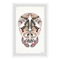 Parvez Taj Kaleidoscope Butterfly Skull 8-Inch x 12-Inch Framed Wall Art