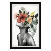 Parvez Taj Tropical Bloom 8-Inch x 12-Inch Framed Wall Art