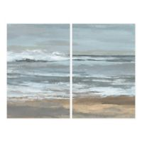 Parvez Taj 2-Piece Dark Shore 48-Inch x 36-Inch Canvas Wall Art Set