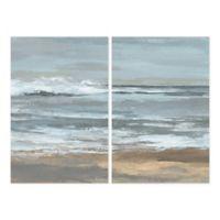 Parvez Taj 2-Piece Dark Shore 40-Inch x 30-Inch Canvas Wall Art Set