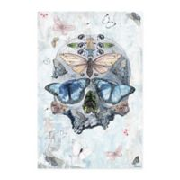 Parvez Taj Clouded Half Butterfly Skull 30-Inch x 45-Inch Canvas Wall Art