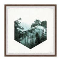 Parvez Taj Hexagon Forest 12-Inch Squared Framed Wall Art