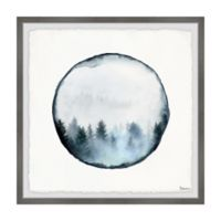 Parvez Taj Rounded Foggy Forest 32-Inch Squared Framed Wall Art