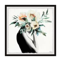 Parvez Taj Mysterious Bloom 32-Inch Squared Framed Wall Art