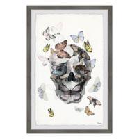 Parvez Taj Butterfly Skull Paradise 8-Inch x 12-Inch Framed Wall Art