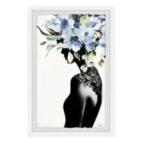 Parvez Taj Midnight Bloom 16-Inch x 24-Inch Framed Wall Art