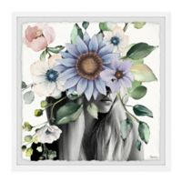 Parvez Taj Magnificent Bloom 12-Inch Squared Framed Wall Art