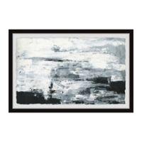 Parvez Taj Black and White Smudges III 12-Inch x 8-Inch Framed Wall Art