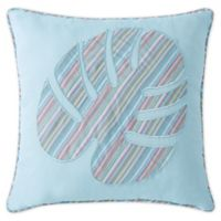 Tropical Yarn Dye Stripe Square Throw Pillow in Pastel