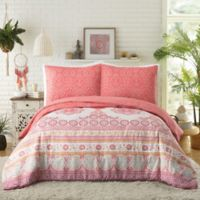 Jessica Simpson Anahita King Comforter Set in Coral