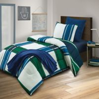 Westerly 6-Piece Reversible Full Comforter Set in Navy