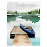 Trademark Fine Art Lake Views I 14-Inch x 14-Inch Wrapped Canvas Art