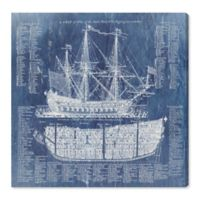Oliver Gal™ Ship Vocabulary and Terms 12-Inch x 12-Inch Canvas Wall Art