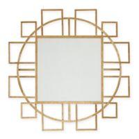Madison Park Kenzie Round Mirror in Gold