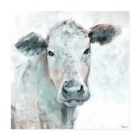 Parvez Taj Cow Groove 40-Inch Squared Canvas Wall Art