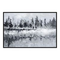 Parvez Taj Dark Lake 18-Inch x 12-Inch Floater Framed Canvas Wall Art