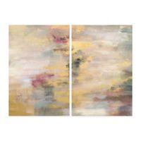 Parvez Taj Yellow Streaks 40-Inch x 30-Inch Canvas Wall Art Set