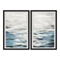 Parvez Taj Reflective Sea 60-Inch x 45-Inch Framed Wall Art Set