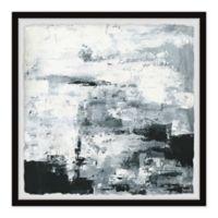 Parvez Taj Black and White Smudges 12-Inch Squared Framed Wall Art