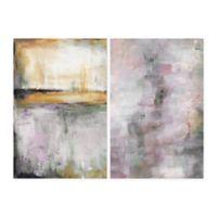 Parvez Taj Pink and Yellow Smokes 40-Inch x 30-Inch Canvas Wall Art Set