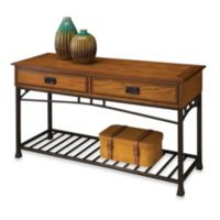 Home Styles Modern Craftsman Sofa Table in Oak