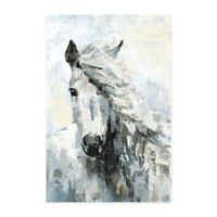 Parvez Taj Great White Horse 24-Inch x 36-Inch Canvas Wall Art