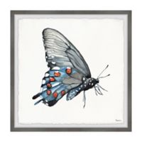 Parvez Taj Dotted Butterfly 12-Inch Squared Framed Wall Art