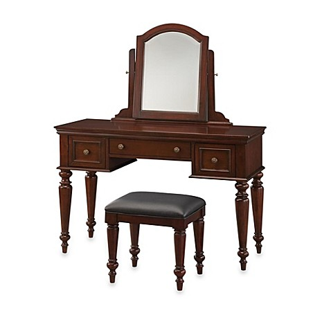 Home Styles Lafayette Vanity Set in Cherry - Bed Bath & Beyond