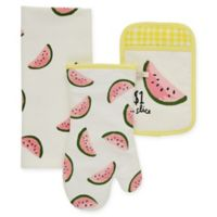 kate spade new york Watermelon 3-Piece Kitchen Linens Set in Daffodil