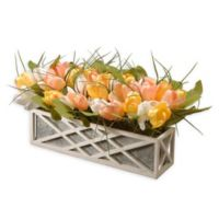 National Tree Company 16-Inch Artificial Tulips Display in Planter