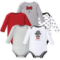 Hudson Baby® Size 18-24M 5-Pack Gentleman Bodysuits in Red