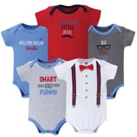 Hudson Baby® Size 0-3M 5-Pack Mr. Cool Bodysuits in Red