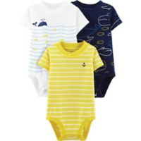 carter's® Boy's Newborn 3-Pack Short Sleeve Bodysuits