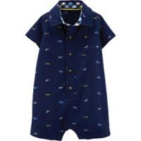carter's® Boy's Size 9M Schiffli Print Romper in Navy