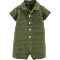 carter's® Boy's Size 6M Polo Romper in Green