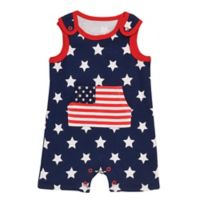 Baby Starters® Size 9M Americana Romper in Navy